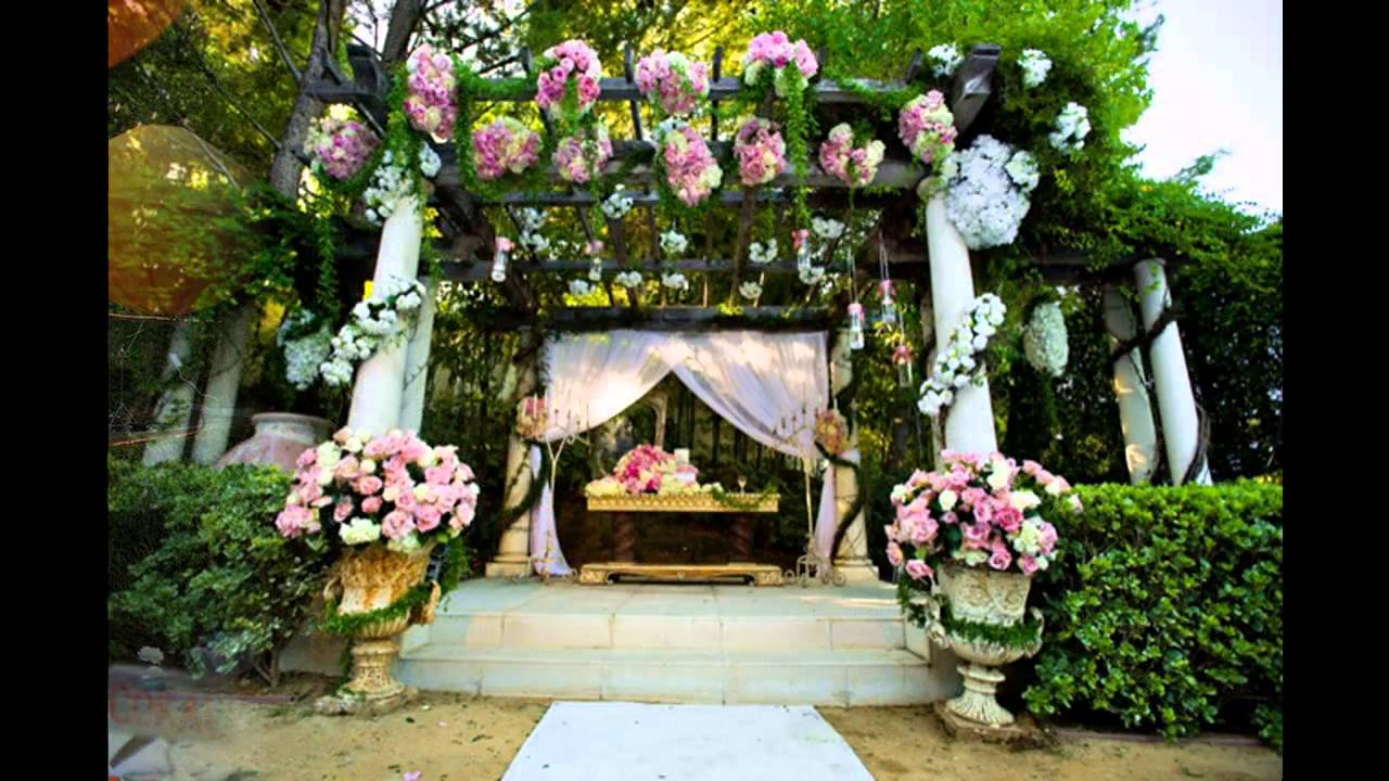 Best garden wedding decoration ideas youtube for Wedding decorations home