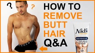 ✅ How To Remove Butt Hair   Q&A  -  Men's Grooming
