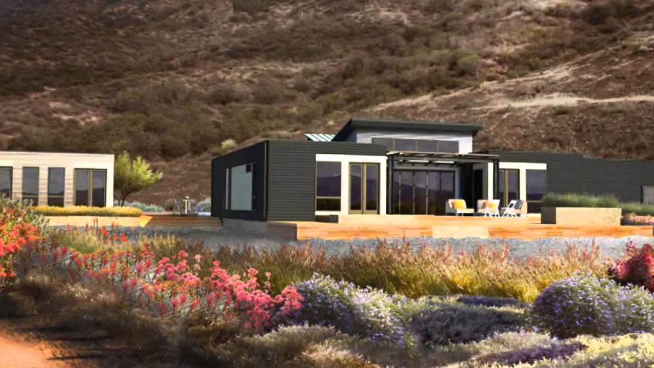 Blu homes unveils southern california breezehouse prefab at dwell on design 2013 youtube