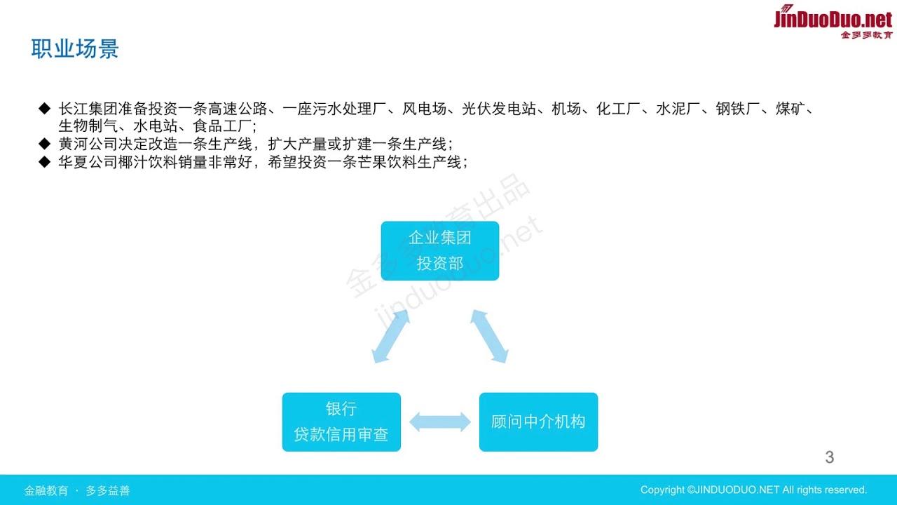 项目投资决策财务建模 01 开篇