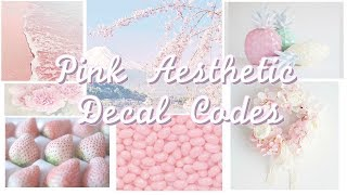 Pink Aesthetic Roblox Decal Codes