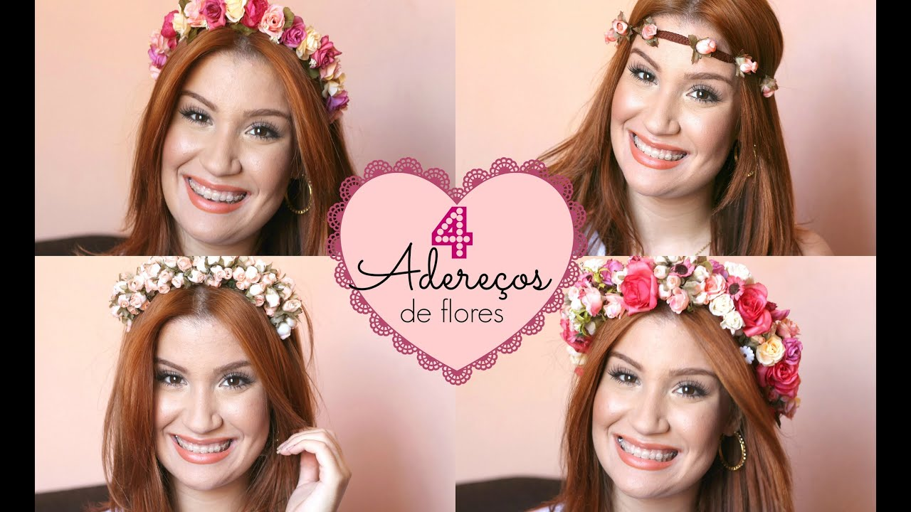 Como fazer 4 coroas de flores em casa! Por Bianca Andrade. - YouTube e20a90b5b7