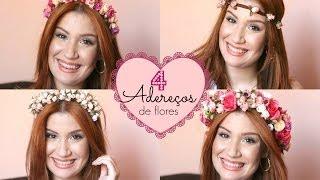 Como fazer 4 coroas de flores em casa – Por Bianca Andrade