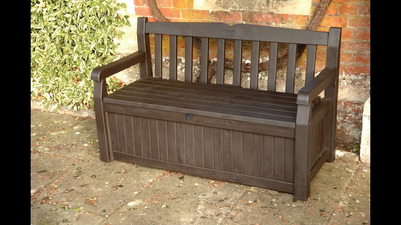 Review: Keter Eden 70 Gal All Weather Outdoor Patio Storage Bench Deck Box,  BrownBrown