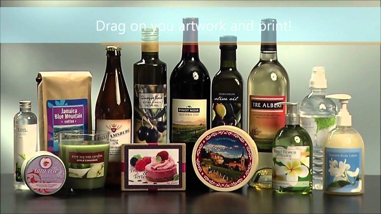 Label printer for wine labels, food labels, barcode labels.