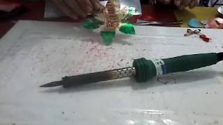 Como usar o ferro de solda no artesanato