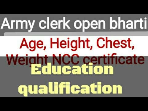 Army Clerk Height Chest Weight Army Clerk Army Clerical Bharti