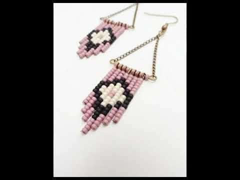 Crochet and beaded earing design