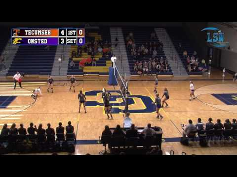 Tecumseh Indians vs Onsted Wildcats (2016 MHSAA Volleyball District Semi-Final)