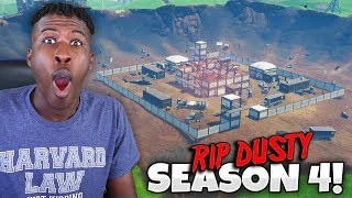 SEASON 4 BATTLE PASS!! RIP DUSTY DEPOT!! (Dusty Divot - Fortnite: Battle Royale)