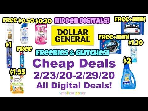 Dollar General Cheap Deals 2/23/20-2/29/20! All Digital Deals!