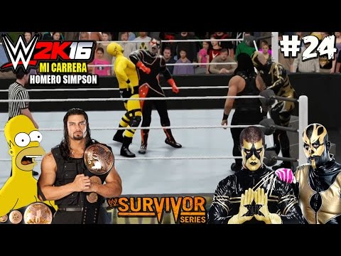 "WWE 2K18: ""Homero y Roman Reigns VS Stardust y Goldust"" - (WWE Tag Team Championship) - Parte 24"