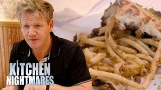 Gordon Ramsay Served a 'Bland Pile of Worms' | Kitchen Nightmares