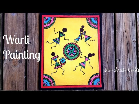 Warli Painting on Canvas