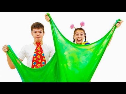 Настя и Артем сделали гиганский слайм