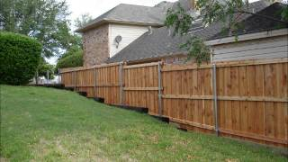 Steven Ray Exteriors Cedar Wood Fence Installation Dallas Tx