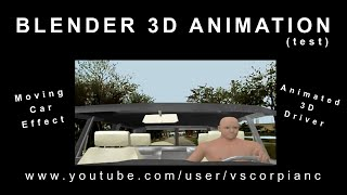 Blender 3D Animation - 3d Car & Driver Greenscreen, Live-Video B. G. (test) von VscorpianC