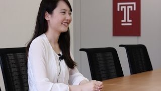 テンプル大学ジャパンキャンパスの学部課程で政治学科を専攻する中村仁...