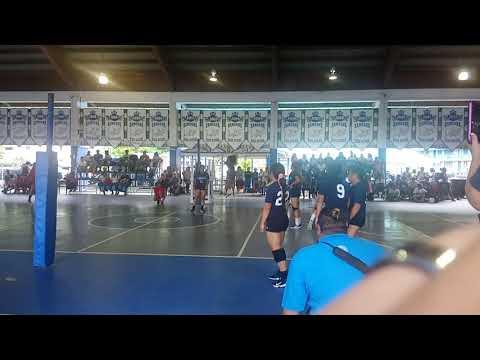 Volleyball game in Samoana High School