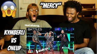 "Voice Duo OneUp Battles Kymberli Joye to Shawn Mendes' ""Mercy"" - The Voice 2018 Battles"