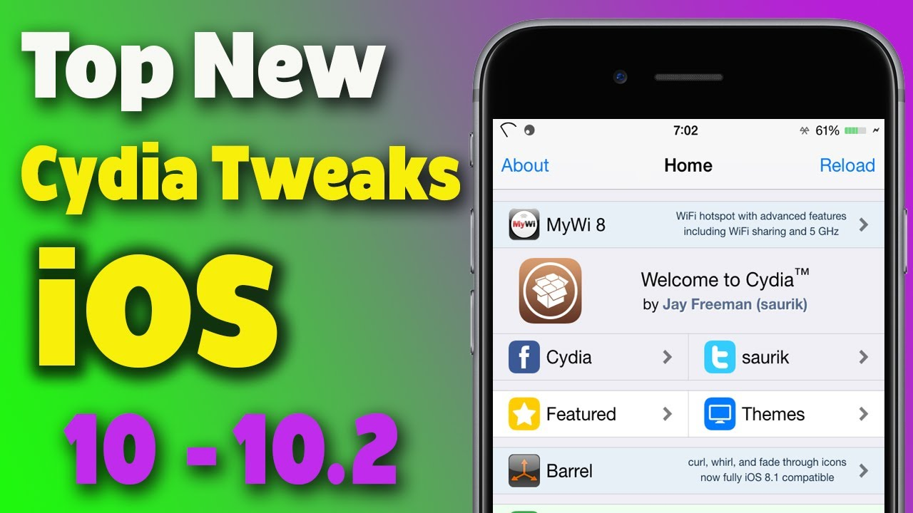 Top New IOS 10 - 10 2 Cydia Tweaks / 2017