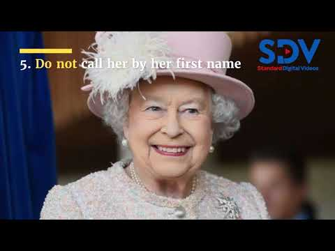 Eight things you cannot do in the Queen's presence