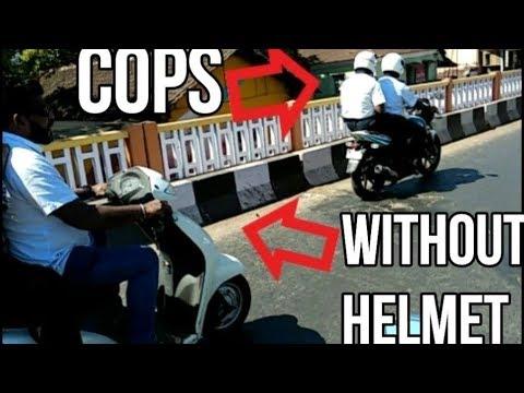 KTM Duke 390 exhaust | bike crash | hiding behind cops | Goa | daily observation 3