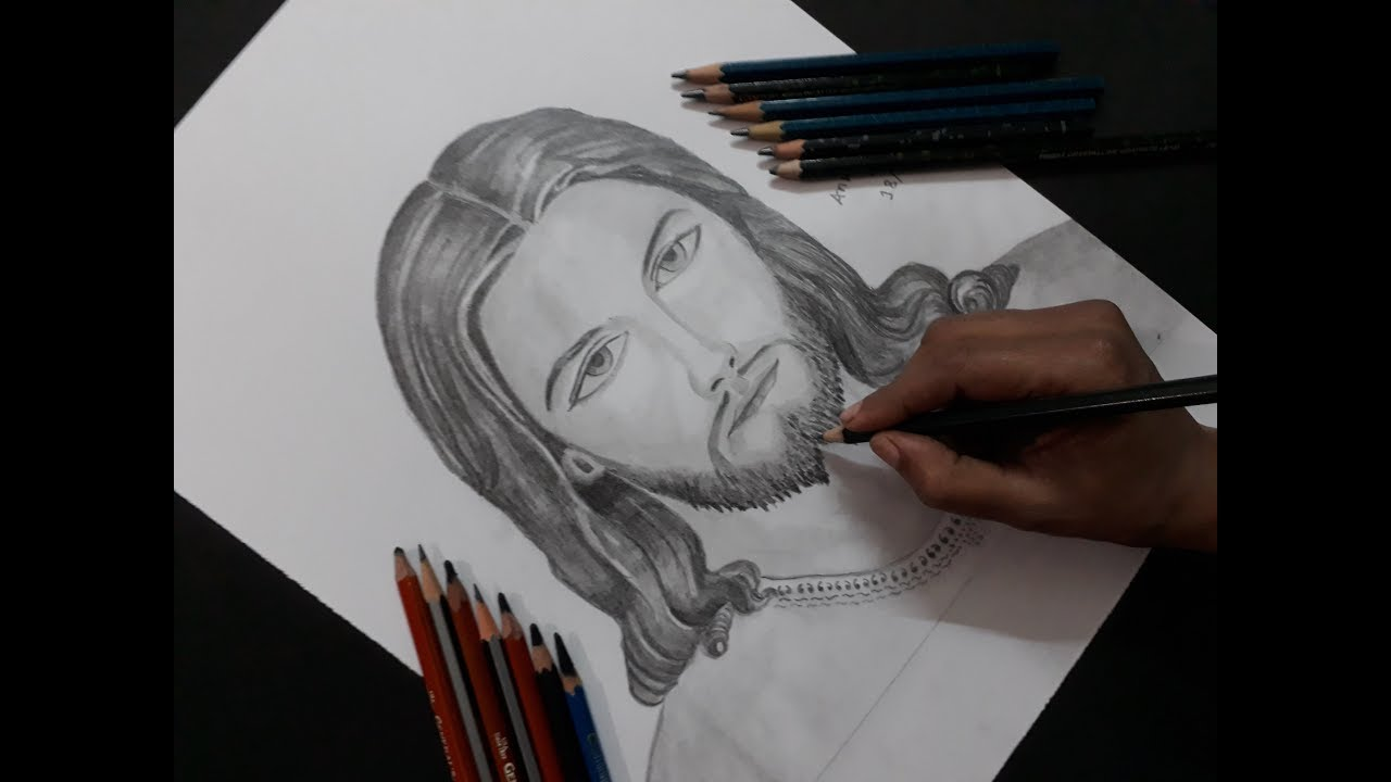 How to draw Jesus Christ drawing step by step - YouTube