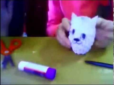 """оригами из модулей """"Кошка"""""""