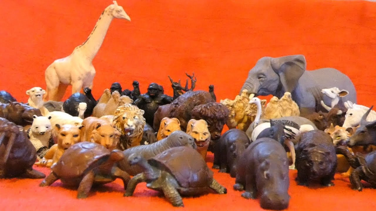 Britains Toys Plastic Zoo Wild Animals Collection Youtube