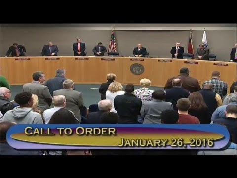 Jan. 26, 2016 Gaston County Board of Commissioners