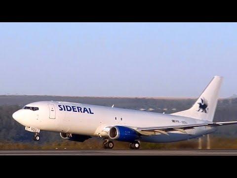 Boeing 737 Cargo Take Off SIDERAL AIR CARGO B737 Cargo BOEING 737 FREIGHTER