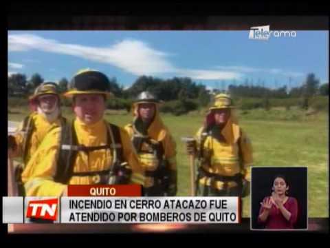 Incendio en cerro Atacazo fue atendido por bomberos de Quito