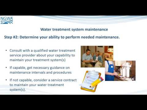 Water Treatment System Maintenance Basics Well Owner