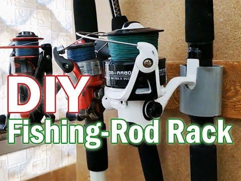 DIY Fishing Rod Rack - Cheap & Easy