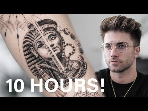 BEST EGYPTIAN SLEEVE TATTOO TIME LAPSE