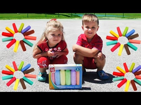 Thumbnail: Learn Сolors with Giant Color Crayons for Children , Toddlers and Babies. Learn colours for Kids