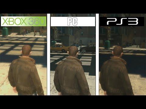 GTA IV | 360 Vs PS3 Vs PC 4K | Graphics Comparison | Comparativa