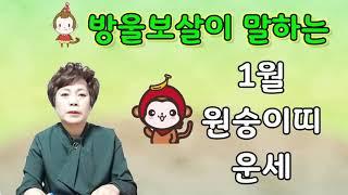 방울보살이 말하는 21신축년 1월 원숭이띠 운세