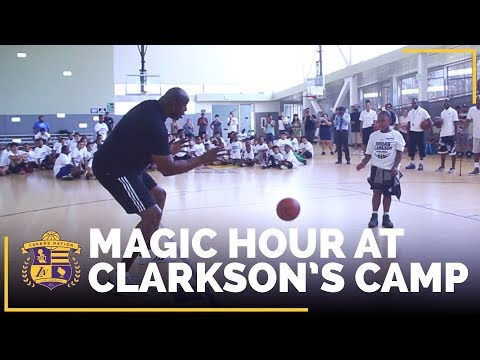 Magic Johnson Puts On A Show At Jordan Clarkson's Camp