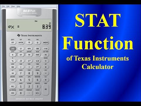 stat function of texas instruments ba ii plus professional calculator youtube