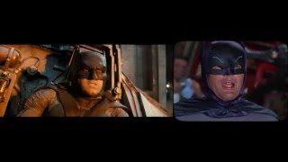 Batman v Superman 1966 side x side remake