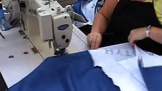 Umbrella canopy sewing film