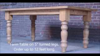 Furniturefarm Rustic Furniture Video.  Reclaimed Wood Made In America