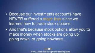 Explaining Stock Options Trading - There's a Way to Guarantee You Won't Lose Money