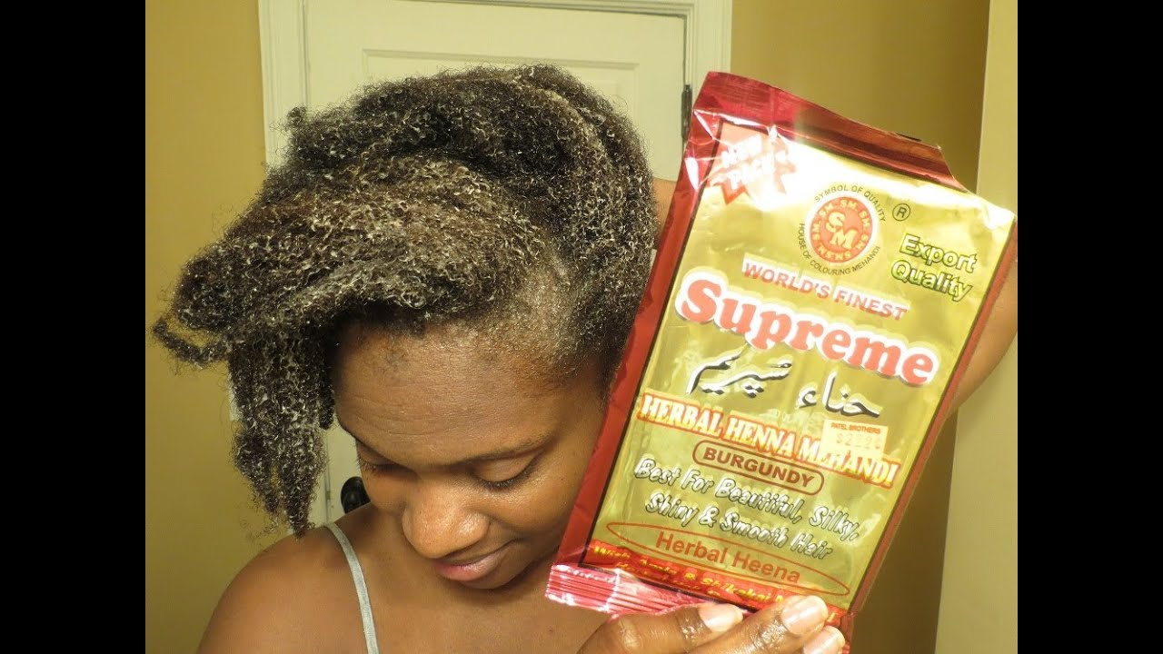 Burgundy Henna For Natural Hair Coloring Youtube