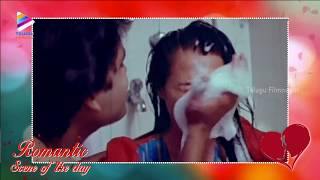 Real Couple Reel Romance | Romantic Scene Of The Day | Nagarjuna | Amala