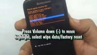 Lenovo A369i Hard Reset(Your Lenovo A369i run too slow? It may be necessary to perform a reset if your smartphone fails to respond when buttons are pressed or the screen is tapped., 2014-08-25T21:54:02.000Z)