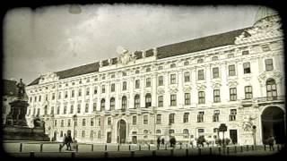 Vienna Courtyard. Vintage stylized video clip.