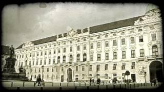 Vienna Courtyard. Vintage stylized video clip.